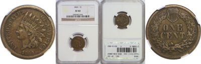 1860. NGC. XF-40.