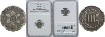 1853. NGC. VG-10.