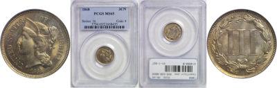 1868. PCGS. MS-65.
