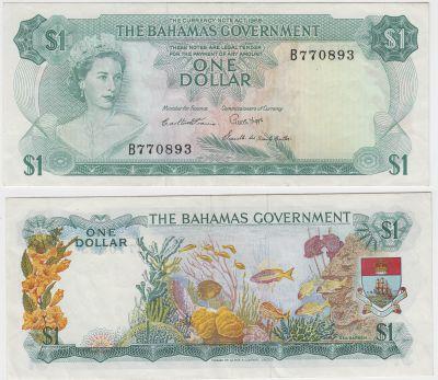 1965. Bahamas. $1. VF. P-18b.