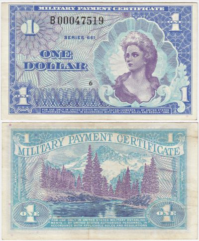 $1. Series 661. XF.