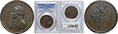 (Undated). Washington. PCGS. MS-63. BN.
