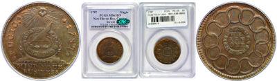 1787. Fugio Cent. PCGS. MS-65. BN.