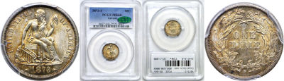 1873-S. PCGS. MS-64+.