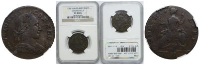 1788. Connecticut. NGC. VF-30.