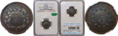 1866. Nickel. NGC. PF-66. BN. J-508.