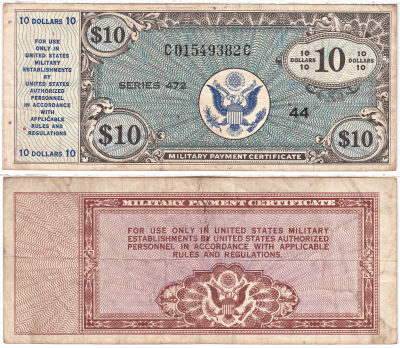 10 Dollars. 472. VF.