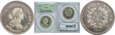 1869. Half Dollar. PCGS. PR-63. J-748.