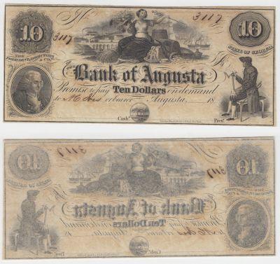 1850's. $10. CCU. GA.