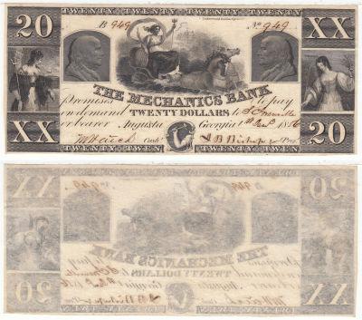 1856. $20. CCU. GA.
