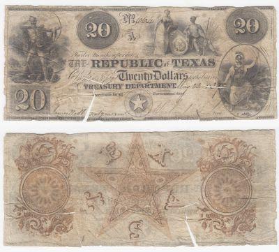 1839-40. $20. FINE. TX.