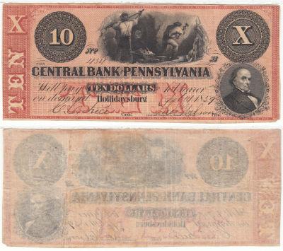 1859. $10. XF. PA.