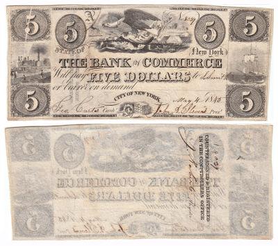 1845. $5. CCU. NY.