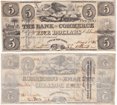 1845. $5. CAU. NY.
