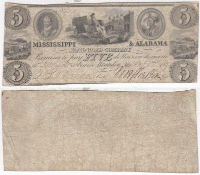 1837. $5. FINE. MS.