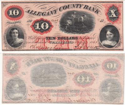1861. $10. CAU. MD.
