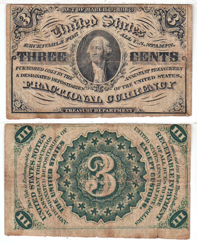 3c. 3rd Issue. FINE. 1227.