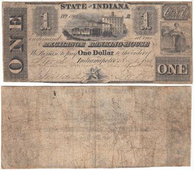 1840. $1. Fine+. IN.