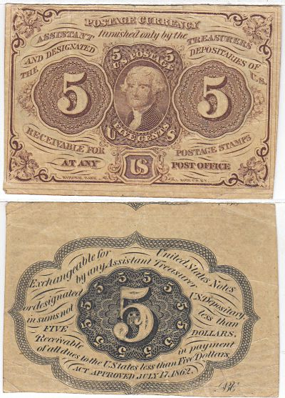 5c. 1st Issue. VF. 1230.