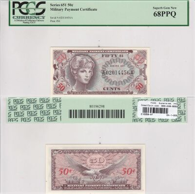 50c. 651. PCGS. Superb-68. PPQ.