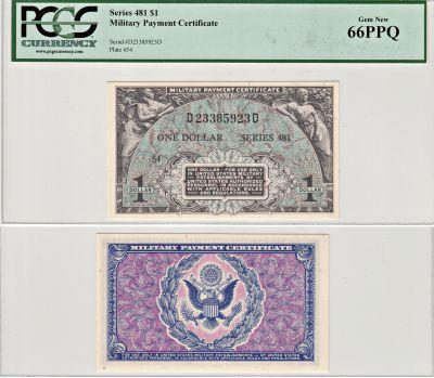 $1. 481. PCGS. Gem-66. PPQ.