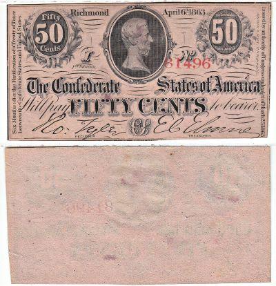 1863. 50c. CCU. T-63.