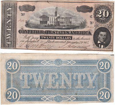 1864. $20. CAU. T-67.