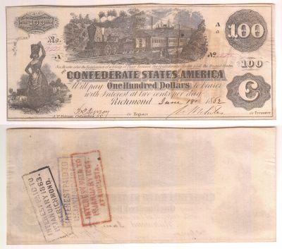 1862. $100. XF. T-39.