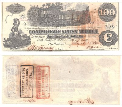 1862. $100. AU. T-39.