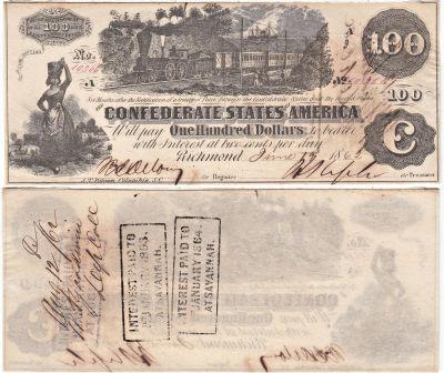 1862. $100. CCU. T-39.