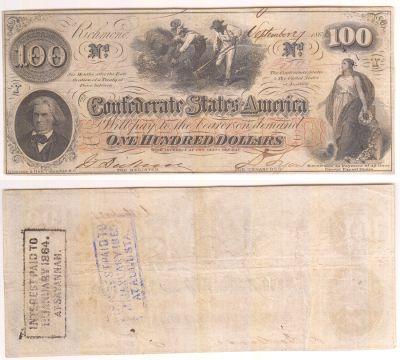 1862. $100. VF. T-41.