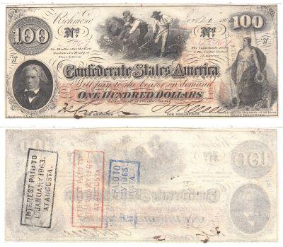 1862. $100. CCU. T-41.
