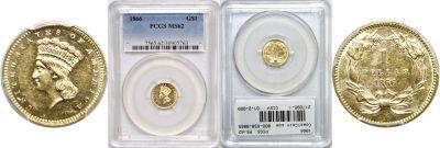 1866. PCGS. MS-62.
