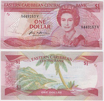 1985-88. East Caribbean States. $1. CCU. P-17v.