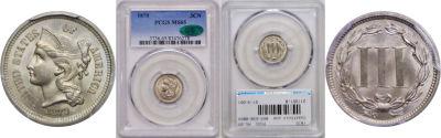 1870. PCGS. MS-65.
