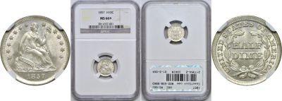 1857. NGC. MS-66+.