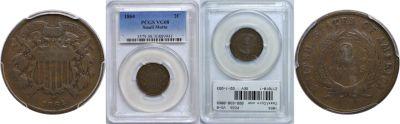 1864. PCGS. VG-8.