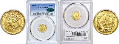 1862. PCGS. MS-63.