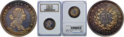 1869. Half Dollar. NGC. PF-64. J-748.