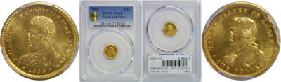 1905. PCGS. MS-64+. Lewis and Clark $1.