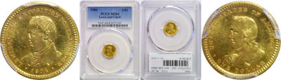 1904. PCGS. MS-64. Lewis and Clark $1.