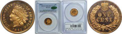 1864 Bronze. PCGS. PR-64. RD.