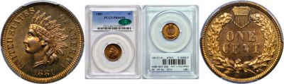 1881. PCGS. PR-66. RB.