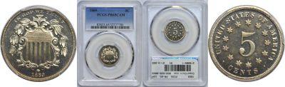 1869. PCGS. PR-65. CAM.