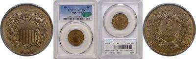 1864. PCGS. MS-65. BN.