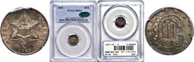 1855. PCGS. MS-64.
