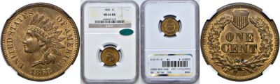 1868. NGC. MS-64. RB.