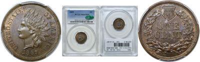 1869. PCGS. MS-65. BN.