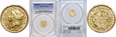 1854-D. PCGS. AU-58.