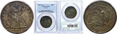 1873-CC. PCGS. XF-40.